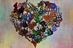 Amor por la música (Aránzazu Vel) Tags: cuore corazón guitar textura texture music heart picture art artwork