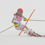 April 14th, 2017- Noa Szollos of Hungary takes second place in the Mackenzie Investments Whistler Cup U14 LADIES Slalom Ski Race. Photo by Scott Brammer - www.coastphoto.com