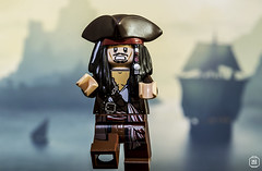 Captain Jack Sparrow (jezbags) Tags: lego legos toys toy captain jack sparrow jonny depp macro macrophotography macrolego macrodreams canon60d canon 60d 100mm closeup upclose pirate ship running scared pirates caribbean minifigure minifigures hat run rum movie blue