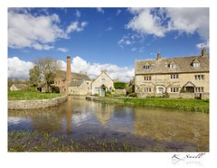 Lower Slaughter Mill in Cotswolds (Karl Snell) Tags: mill landscape cotswolds blue clouds slaughter lower famous water stream canon 5d mkii 1635 f4l travel walking hiking trip england aonb picturesque history