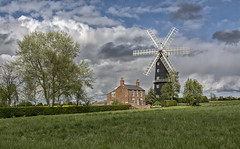 Standing tall (David Feuerhelm) Tags: outdoors colour nikkor landscape building mill windmill sails house clould sky fields sibsey lincolnshire england colorefex nikon d7100 nikkor1685mm