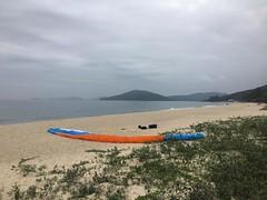 Short but great flight in Lantau today with a nice landing on this beautiful beach  #HongKong #HKIG #discoverhongkong #paragliding