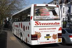 Give us a Job (Chris Baines) Tags: simonds vanhool norwich station reg 4940 vf
