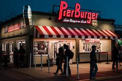 The Last Burger on Land (Geoff Livingston) Tags: pierburger santamonica pier burger route66 pacificocean awning shadow stride neon