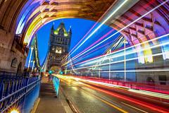 blue hour (gian_tg1) Tags: lighttrails towerbridge colourful traffic 7dwf crazytuesdaytheme bluehour bridge londonuk lights road outdoor led longexposure fujifilmxt1