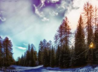 Gli ultimi raggi ... l'ultima neve.