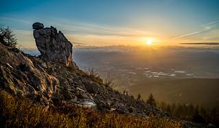 Sonnenaufgang vom Jeschken aus