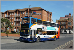 18173, Royal Parade (Jason 87030) Tags: dennis alx400 trident doubledecker 18173 stagecoach dx54dvr travelodge hotel holiday ramsgate thanet kent uk england unitedkingdom greatbriatin harbour parade sony alpha 6000 ilce tag flickr lens sunny 2017 april hols bus publictransport 9 canterbury