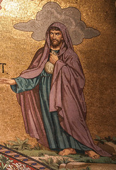 Judas (Lawrence OP) Tags: biblical passion mosaic judas lourdes rosary basilica betrayer traitor