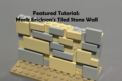 New Featured Tutorial! (soccersnyderi) Tags: lego moc medieval stone castle wall technique snot design tutorial method how to