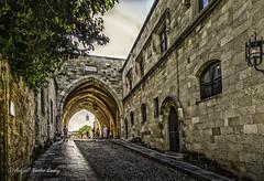 The Street of the Knights (Askjell) Tags: aegeansea greece hellas knightshospitaller knightsofstjohn mediterraneansea rhodes rhodos rhodosoldtown rodos medieval middleage