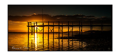 You've Been Framed (RonnieLMills) Tags: old pier jetty sunset low tide reflections sun newtownards sailing club portaferry road mount stewart county down northern ireland