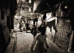 Streetphotography, India (paola ambrosecchia) Tags: street blackandwhite shadows movement people india asia kolkata bnw monochrome