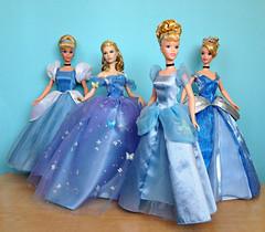Cinderelly, Cinderelly (honeysuckle jasmine) Tags: mattel cinderella doll dolls toy barbie blue gown ballgown