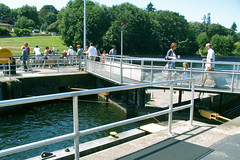 "People crossing over the small Chittenden lock • <a style=""font-size:0.8em;"" href=""http://www.flickr.com/photos/34843984@N07/14925264473/"" target=""_blank"">View on Flickr</a>"