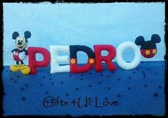 nome feltro pedro (Gifts 4Ur Love) Tags: mickey porta quarto nome feltro menino