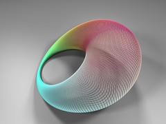 cyclidal rainbow (fdecomite) Tags: rainbow geometry math povray dupin cyclid