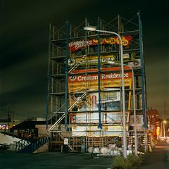 monolith (akira ASKR) Tags: night scaffolding okinawa  provia100f  hasselblad500cm rdpiii  201418 distagoncf50mmfle