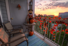 October Porch Sunset