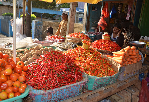 Waikabubak market, Sumba
