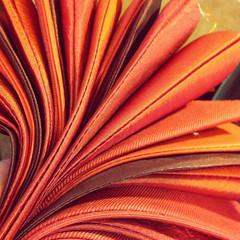 """Steph"" Burnt Orange (Emma Bunting) Tags: wedding orange banner silk garland cotton burntorange bunting weddingbunting"