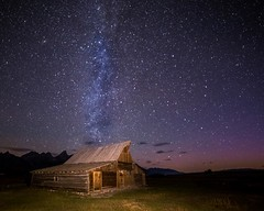 Milky Way at the Thomas Moulton barn (Marvin Bredel) Tags: light sky lightpainting mountains night barn stars bravo historic astrophotography wyoming teton jacksonhole milkyway moulton grandtetonnationalpark jacksonwyoming mormonrow canoneos6d tamoulton marvinbredel thomasmoulton