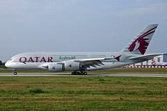 F-WWAJ (Qatar) (Steelhead 2010) Tags: a380 freg qatarairways a380800 xfw fwwaj a7apb