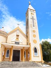 Nh th Thnh Mu (vetoc) Tags: blue sky church clouds day cloudy sunny vietnam dalat ricoh partly  grd3