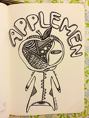 () Tags: bw art apple illustration sketch blackwhite drawing alien