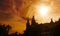 Hot Days In Monaco (Coquine!) Tags: sunset clouds cloudy wolken casino montecarlo monaco drama monacoyachtshow christianleyk