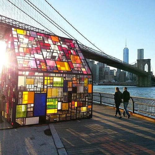 #dumbo #Brooklyn #BrooklynBridge #nycfall #sunsetnyc #om