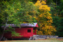 Henry Covered Bridge - Finleyville, PA (sherremaly) Tags: thechallengegame challengegamewinner