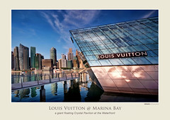 Louis Vuitton @ the Waterfront (williamcho) Tags: tourism fashion retail architecture shopping store singapore crystal boutique trendy sophisticated attraction louisvuitton upmarket highfashion imagesofsingapore marinabaysands brandedgoods crystalpavilion floatingpavilionnorth