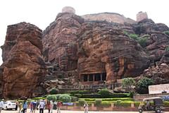 Badami cave temples, Badami (Rupak Sarkar and Uma Sarkar) Tags: badami chalukya cavetemple