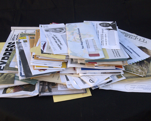 Pile of junk mail by Judith E. Bell, on Flickr