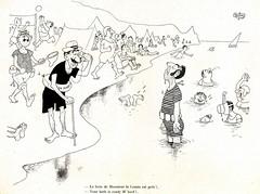 Albert Dubout Album 1944  cartoon  le bain est prèt