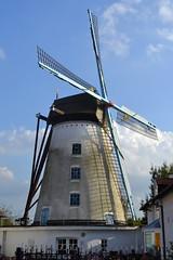 Briekenmolen, Wervik (Erf-goed.be) Tags: geotagged westvlaanderen molen windmolen wittemolen wervik archeonet briekenmolen brikkenmolen geo:lon=30337 geo:lat=507754