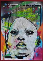 Happy go lucky (id-iom) Tags: street boy urban 3 man art face happy graffiti three go lucky vandalism cheers hip hop hooray idiom