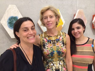 Artist Nicole Cherubini with her New York gallerist Tracy Williams and Molly Nathan at the PAMM opening for her exhibition there
