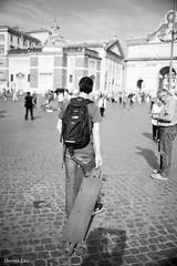 skater.... (dancanon1) Tags: people blackandwhite rome roma streetphotography persone skater canon5d biancoenero piazzadelpopolo