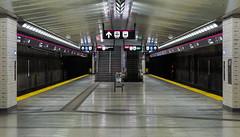 Leslie (BB ON) Tags: toronto station underground subway metro ttc empty platform leslie sheppard derelict line4