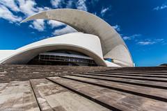 auditorio de tenerife (Lichtbildidealisten.) Tags: santa blue sky santacruz white beautiful clouds nice opera follow cruz tenerife canaryislands auditorium picoftheday