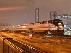 Nighttime heritage (Robby Gragg) Tags: 2 heritage 66 retro amtrak ii phase joliet unit p42
