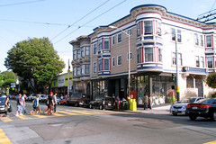 "People crossing Haight street • <a style=""font-size:0.8em;"" href=""http://www.flickr.com/photos/34843984@N07/15360031389/"" target=""_blank"">View on Flickr</a>"