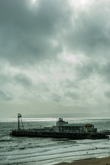 Stormy Pier (Cissa Rego) Tags: sculpture art museum vintage nikon nikond70s artmuseum bournemouth bournemouthpier eastcliff artphotography marblesculpture bournemouthbeach nikondslr russellcotes russellcotesmuseum
