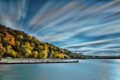 Creve Coeur Lake (Bob Sandor 2015) Tags: longexposure autumn clouds canon missouri crevecoeurlake cloudyday leefilter quantumentanglement topazadjust topazdenoise eos5dmarkiii leebigstopper tse24f35lii topazphotofxlab