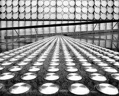 Tactile Design (phunnyfotos) Tags: bw architecture mono design nikon ramp circles steps australia melbourne places monotone victoria step round vic discs rmit balustrade rmituniversity tactileindicators d5100 rmitdesignhub seangodsell nikond5100 phunnyfotos peddlethorparchitects