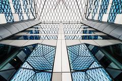 True Blue (Sean Batten) Tags: city blue roof england urban reflection london glass lines architecture nikon unitedkingdom steel d800 openhouselondon 1424 55bakerst