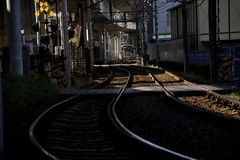 (satoooone) Tags: shadow station landscape tokyo town nikon          trainrail d7100