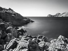Grey (stef6.photo) Tags: ocean longexposure blackandwhite bw mer see noiretblanc stones aegean infrared cyclades rochers poselongue 720nm infrarouge meregée netb filtre720nm